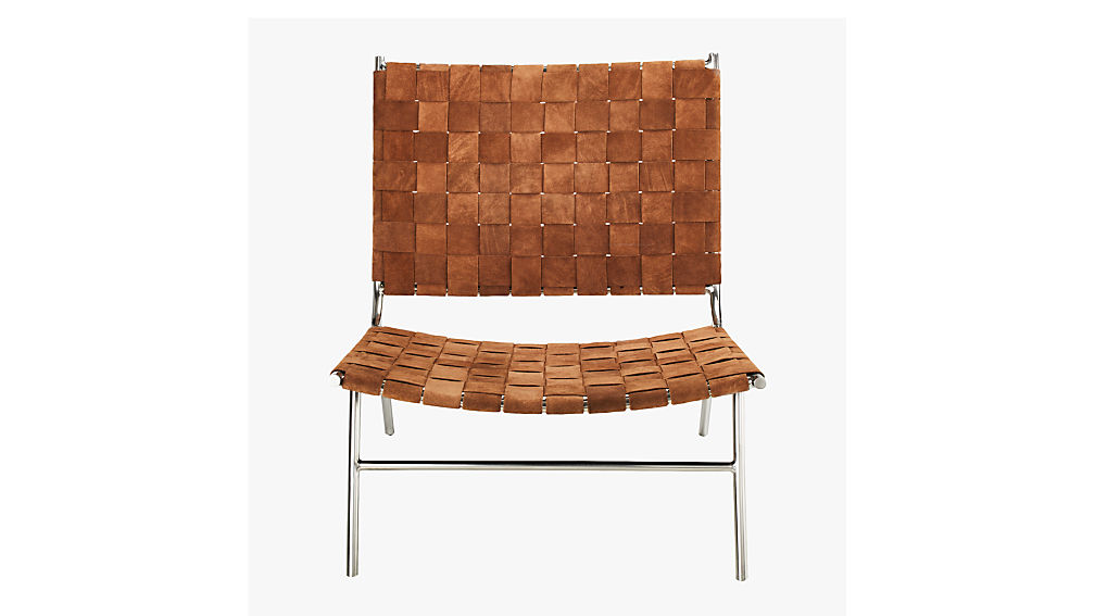 Woven Camel Suede Chair