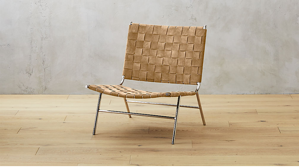 Woven Camel Brown Suede Chair In Accent Chairs Reviews Cb2