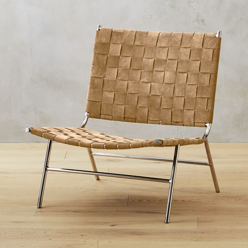 Perfect Woven Camel Suede Chair