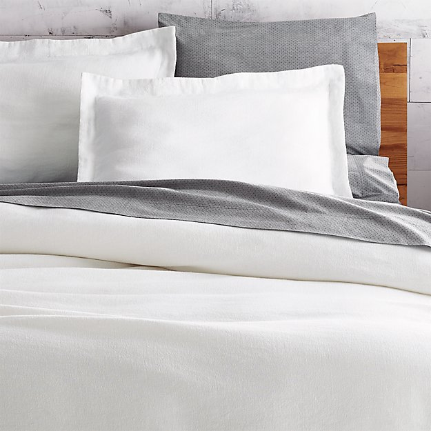 Weekendr White Chambray Duvet Cover Full/Queen