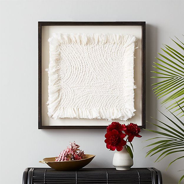 White Braided Wall Art