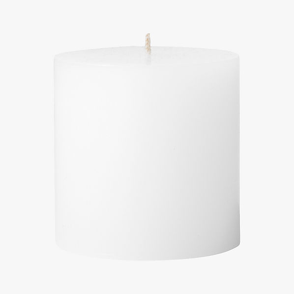 WhitePillarCandle3x3S17
