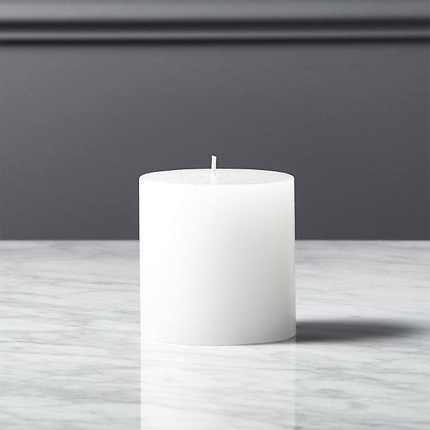"3""x3"" white pillar candle"