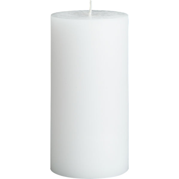 WhitePillarCandle3x6F14