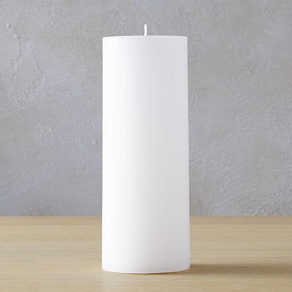 WhitePillarCandle3x8SHF16