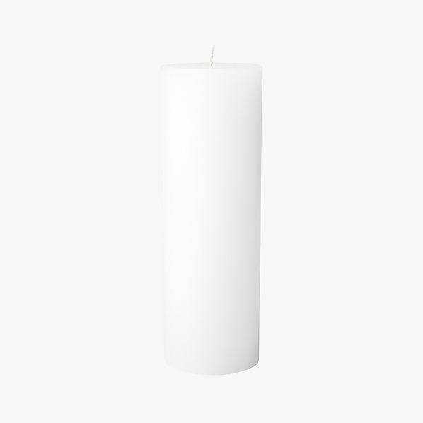 WhitePillarCandle3x9S17
