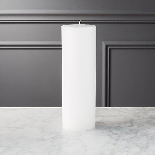 "3""x9"" white pillar candle"