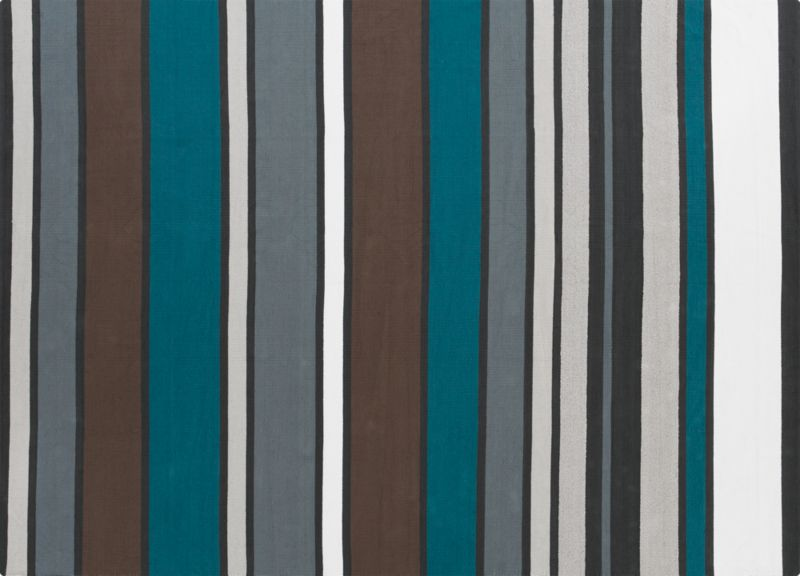 wide stripe cotton dhurrie rug 8'x10'