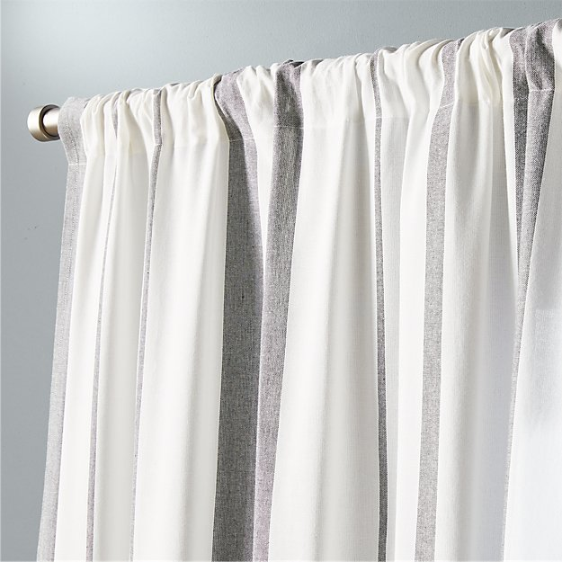 "wide stripe curtain panel  48""x96"""