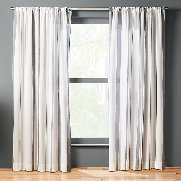 Wide Stripe Curtain Panel Cb2