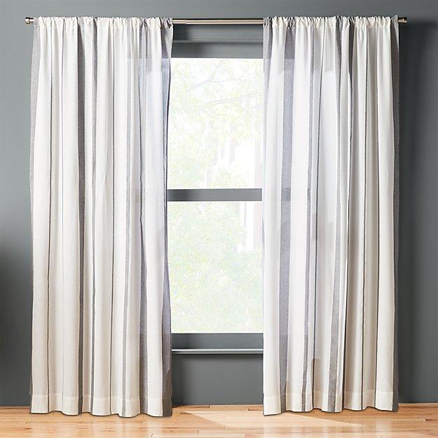 wide stripe curtain panel