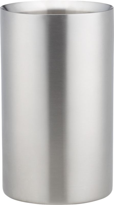 brushed stainless steel wine chiller