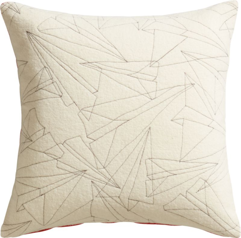 "wing it 18"" pillow with feather-down insert"