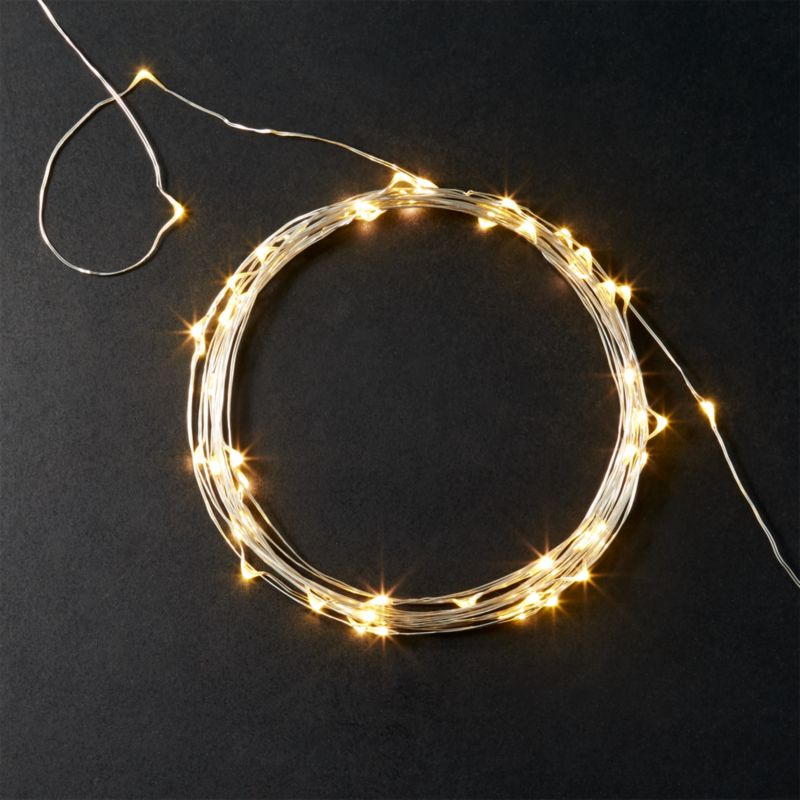 silver wire sprinkle 21u0027 line lights