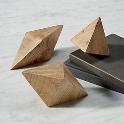 wood shapes set of three