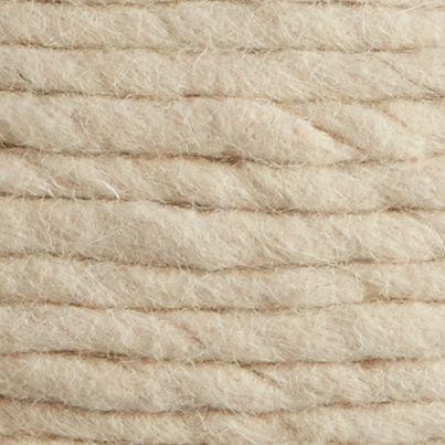 Wool White Pouf In Poufs Reviews Cb2