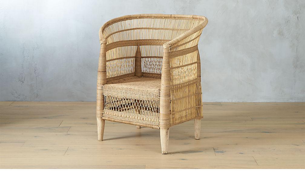woven malawi chair | cb2