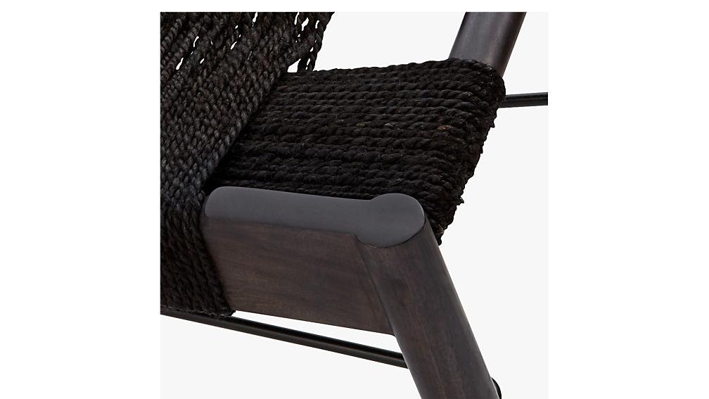 wrap large black bench
