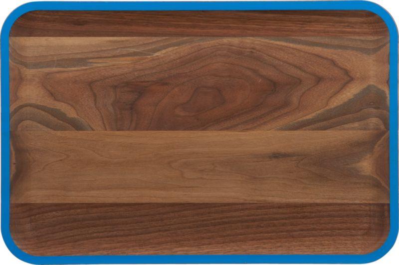 wud blue walnut platter
