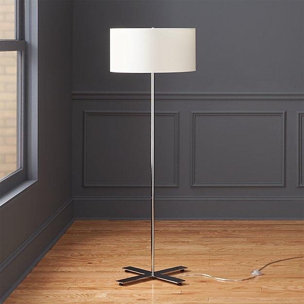 x base chrome floor lamp cb2 With x chrome floor lamp cb2
