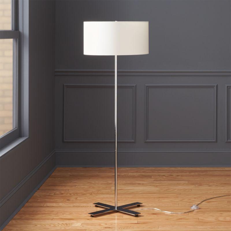 x base chrome floor lamp