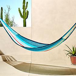 yellow leaf blue-red hammock
