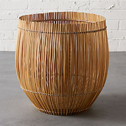yuzo natural bamboo basket