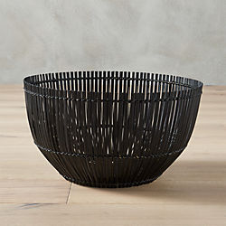 yuzo black bamboo basket