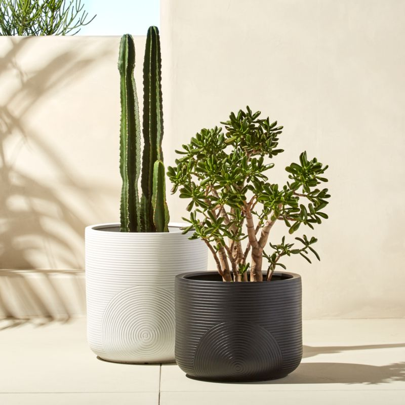 Zen Large Clay Planters Cb2