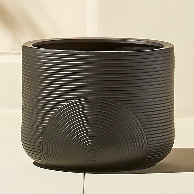 zen small black planter