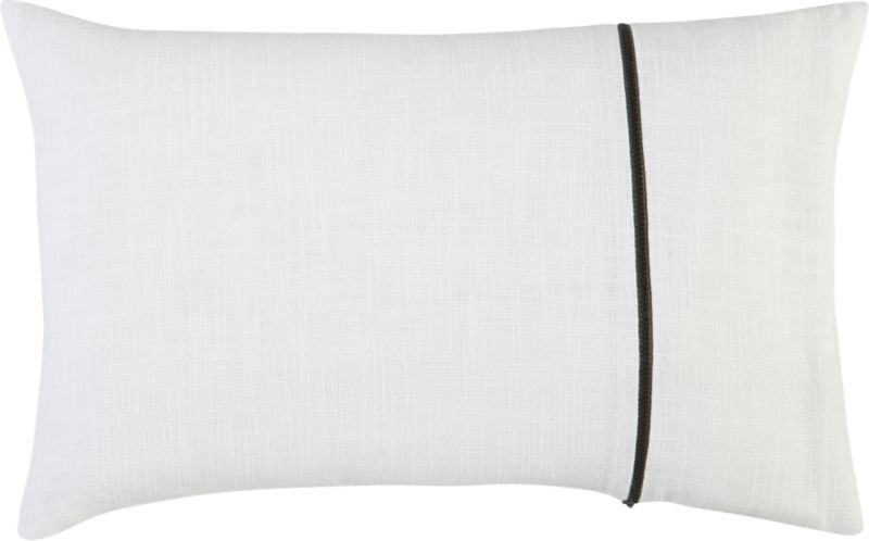 "zipper white 18""x12"" pillow"