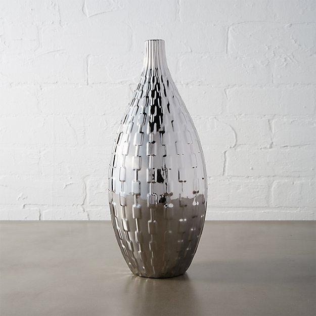 zoe silver vase