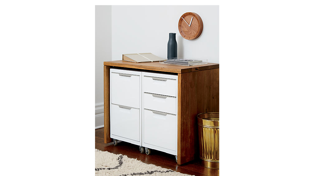 TPS white 3-drawer filing cabinet