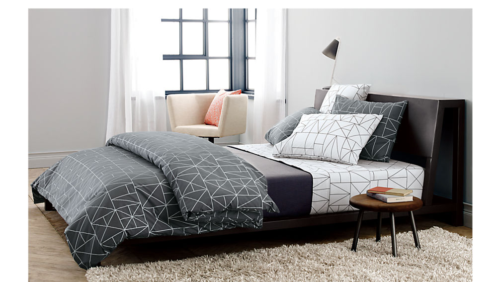. alpine gunmetal bed   CB2