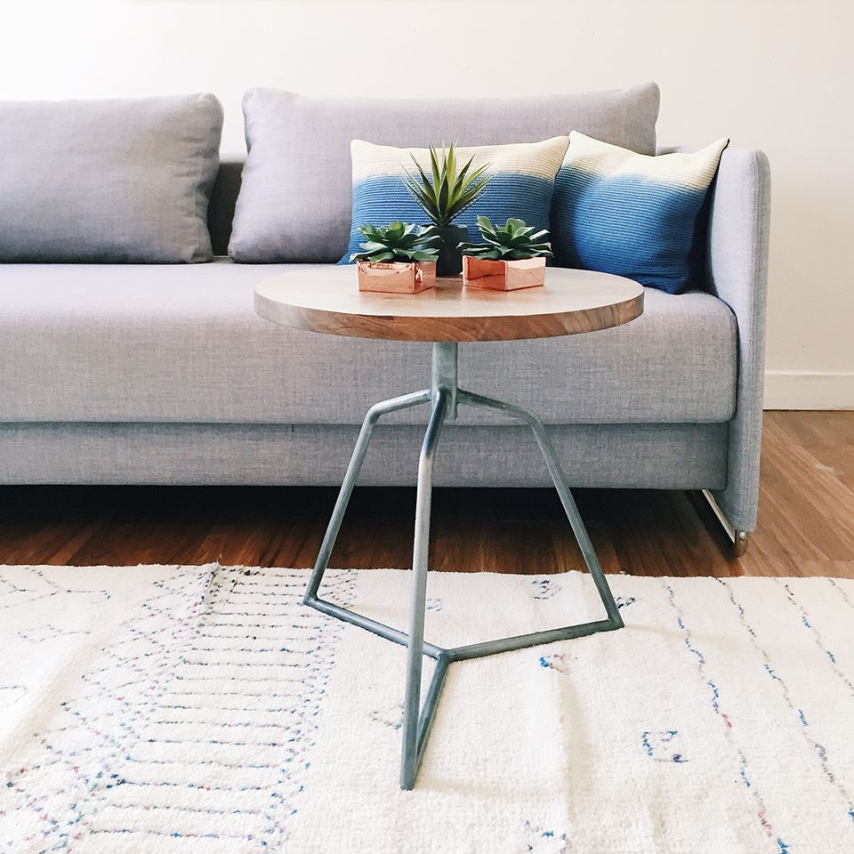 APT CB2 + SF Girl by Bay: Dot Acacia Side Table-Stool