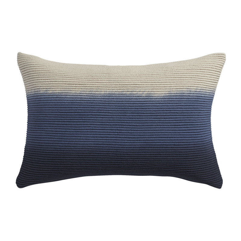 blue azure 18x12 pillow