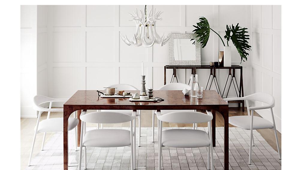 aqua virgo burl dining table