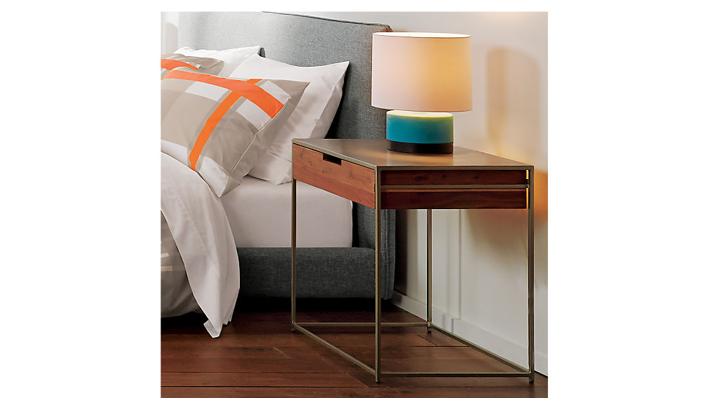 Audrey wood and iron nightstand cb2 - Pictures of nightstands ...