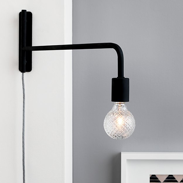 Swing Arm Black Wall Sconce Reviews Cb2