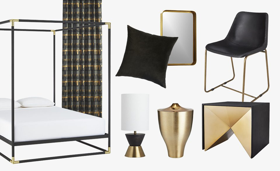 Black and Brass Furniture and Home Decor  CB2 Blog