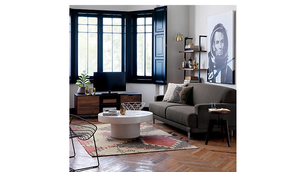 "helix 70"" acacia bookcase"