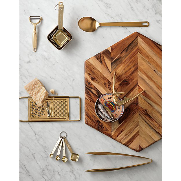 Kitchen Tools Made In Usa: Brushed Gold Kitchen Utensils
