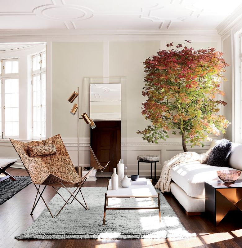 A Space With Racy Pieces Like Our Butterfly Chair With Cheetah Print Needs  Neutral Designs To Create Balance. Our Slab Marble Coffee Table And Piazza  Sofa ...