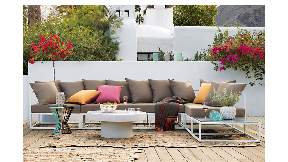 Casbah Modular Outdoor Sectional Sofa Reviews Cb2