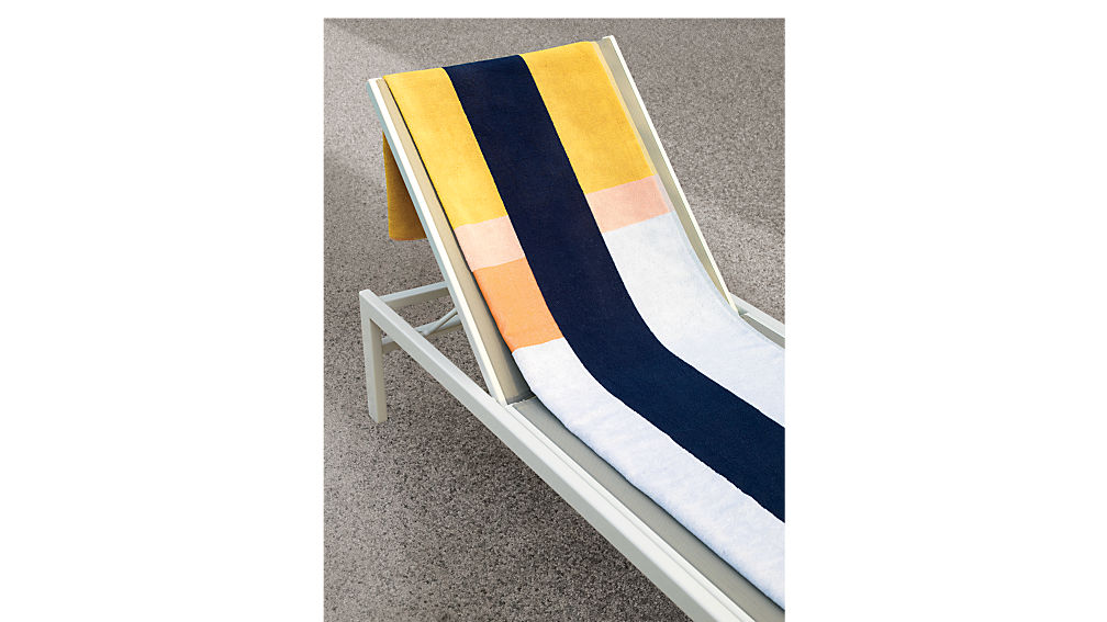 idle grey outdoor chaise lounge