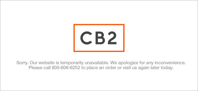 Sorry. Our Web site is temporarily unavailable. We apologize for any inconvenience. Please call (800) 606-6252 to place an order or visit us again later today.