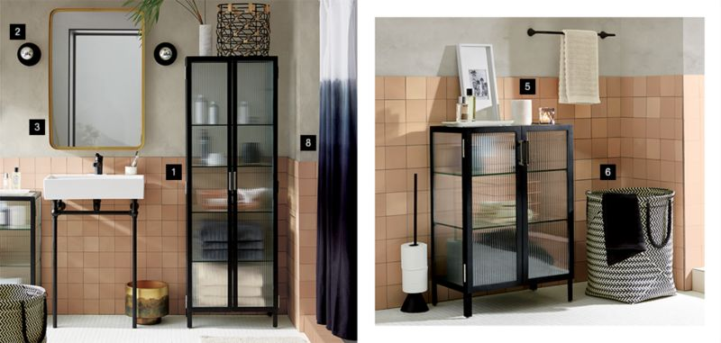 In your dream bathroom a clawfoot tub would rest below a big beautiful window across from a double vanity with endless storage. In reality your stand-up ... & 9 On-Trend Small Bathroom Storage Ideas-CB2 Idea Central