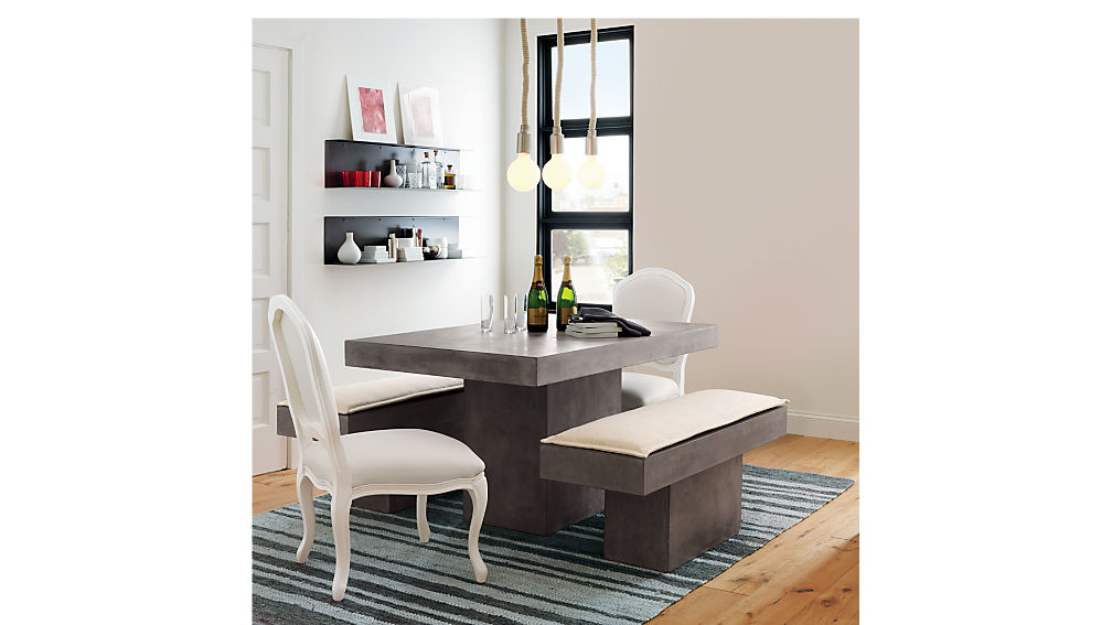 Fuze Grey Dining Table Cb2