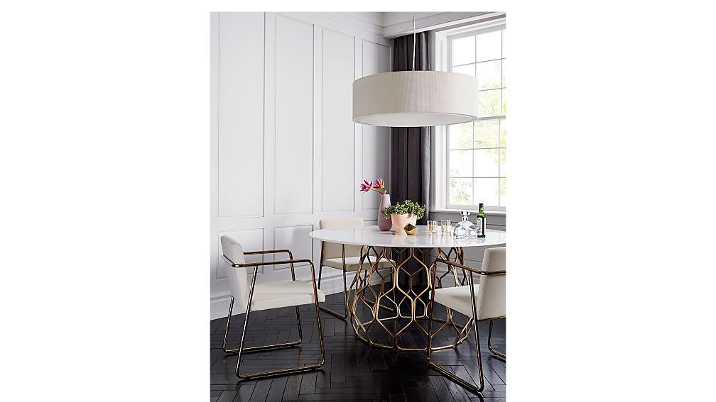 rouka white velvet chair