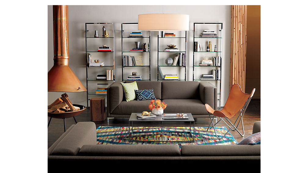 Tesso Chrome Bookshelf In Bookcases Reviews Cb2